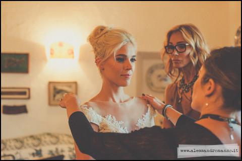 Bride gettin' ready
