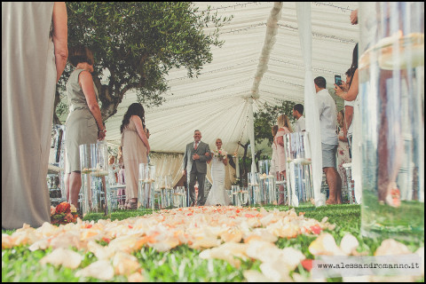 Ceremony at the venue